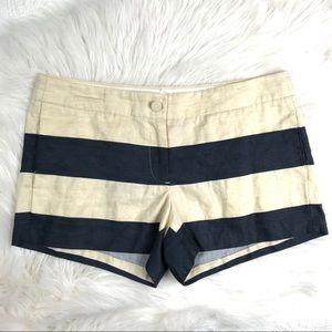 J crew stripe shorts, size 8